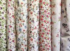 پارچه کتان گلدار